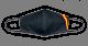 Mascarilla Negra Bandera Mediana